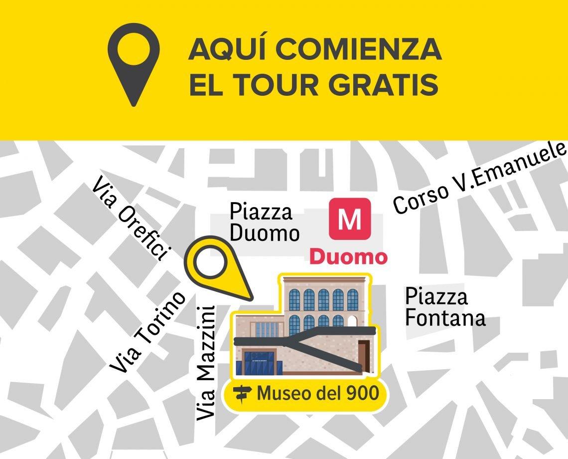 PUNTO ENCUENTRO TOUR GRATUITO MILÀN